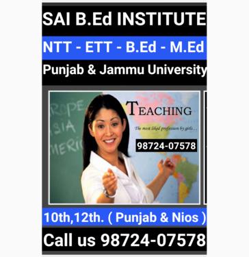 Teacher Training Course NTT ETT BED - Babysitting, Play Home