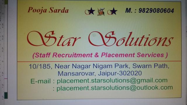 STAR SOLUTIONS - Mansarovar - Placement Consultants In