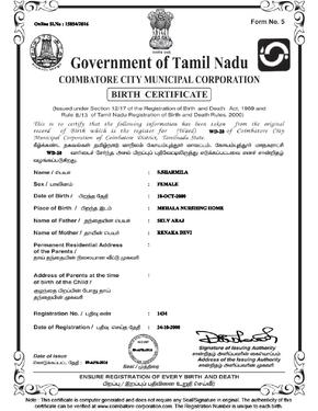 Birth and Death Certificate Agents in Chennai Services