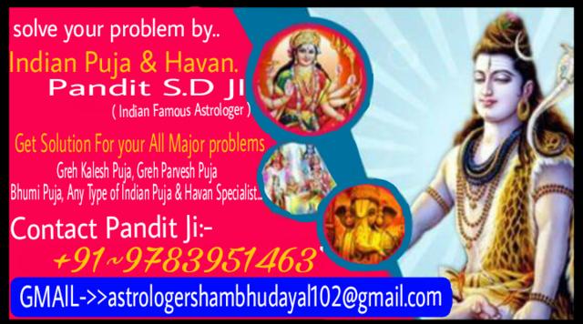 Famous Pandit Ji +91-9783951463 *love Problem Solution Expa