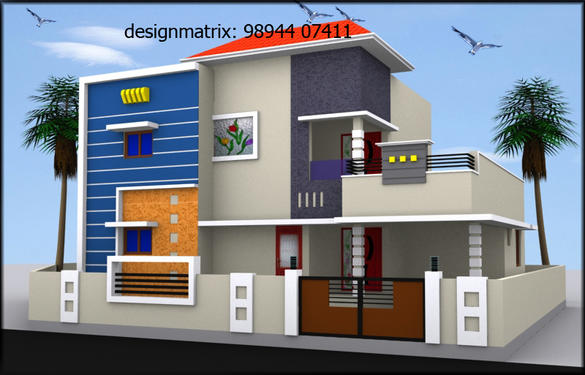 Front Elevation Of House In Coimbatore : D elevation house designer coimbatore housing services