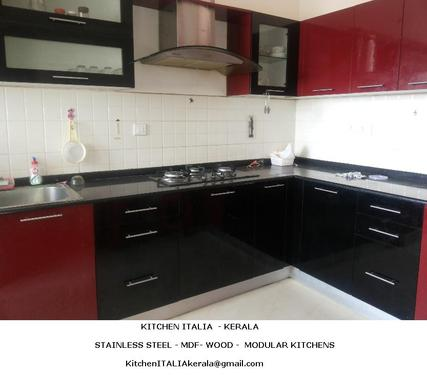 Steel Finish Low Cost Modular Kitchens Kochi Architect In Kakkanad Cochin Ernakulam Click In