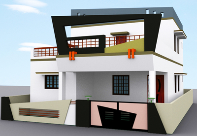 Building elevation and planing architect in t v s nagar for Page 3 salon coimbatore