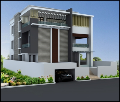 3d house elevation designs images in hyderabad joy for Architecture design for home in hyderabad