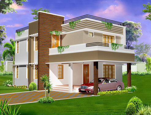 2 Storey House Plans U0026 Designs In Kerala   Architect In Cherthala Alappuzha    Click.in