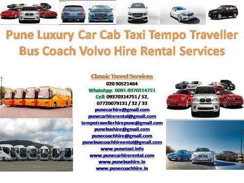 Pune Airport Luxury Car Taxi Cab Bus Coach Minibus Hire Rent