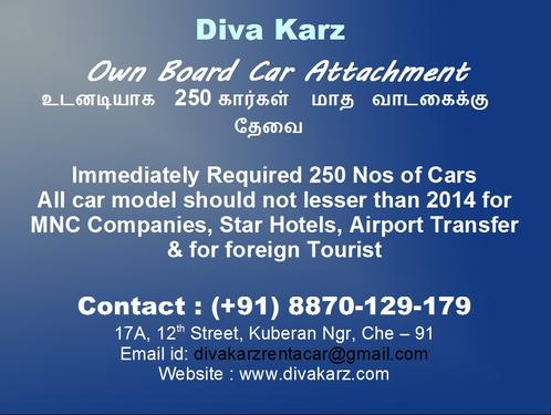 Wanted Own Board Car For Monthly, Yearly Lease For MNC