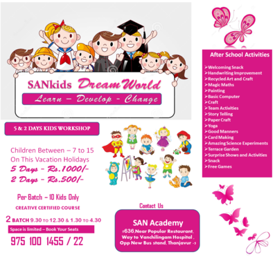 For Kids Drawing Classes In Thanjavur   San Academy