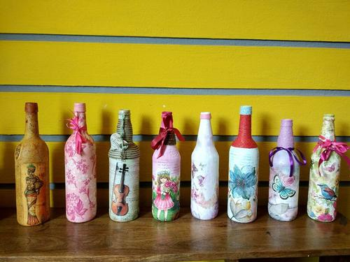 Decoupage Bottle Art Ria School Of Arts And Crafts , Crafts