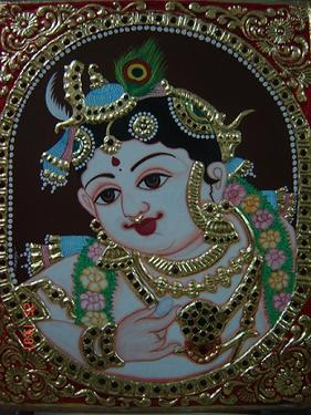 Kerala mural tanjore painting jewelry making and more for Mural jewellery