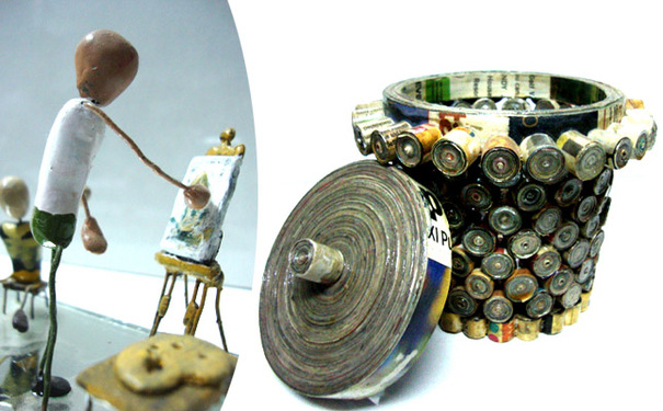 Art of waste material workshop in delhi 9654446040 for Any craft item with waste material