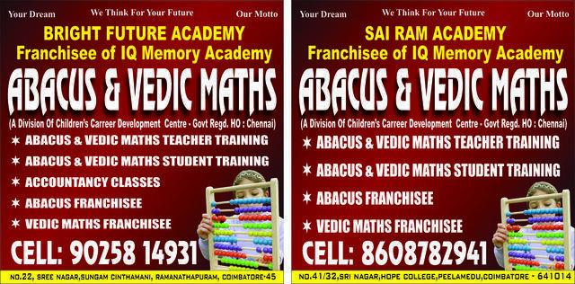 Abacus And VedicMaths- Sai Ram Academy - Hobby Classes In ...Sai Kiran Vedic Maths