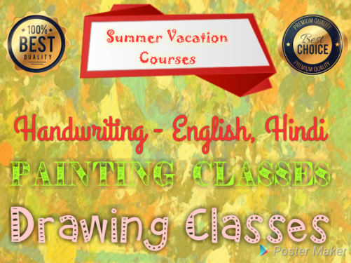 Hobby Classes Handwriting Painting Classes At Home