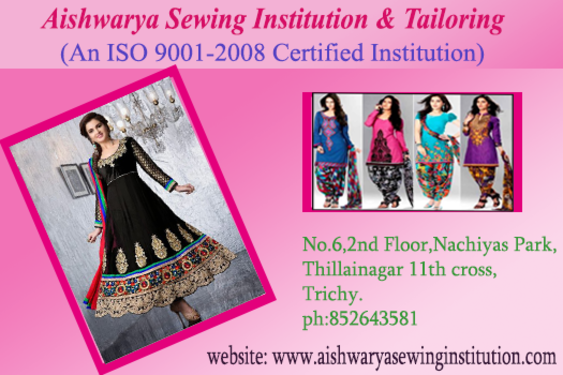 Aishwarya Tailoring Institute In Trichy Knitting Embroidery Classes In Thillai Nagar Tiruchirappalli Trichy Click In