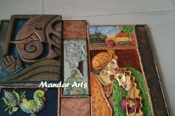 3d mural arts workshop at kothrud crafts classes in for Clay mural making