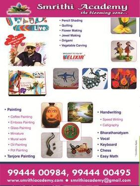 Drawing, Painting ,Art And Craft Classes For Kids And Adults