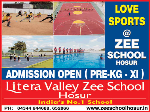 Zee International School Hosur Litera Valley Zee School In Hosur