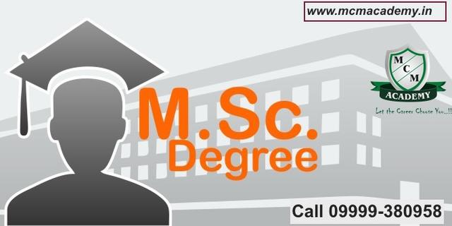 M Sc One Year Fast Track Single Sitting Degree Online Course
