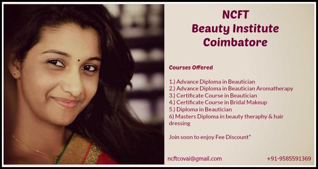 NCFT Beauty Institute Coimbatore In Town Hall - Professional