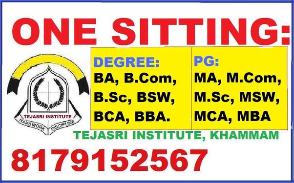 TEJASRI ONE SITTING DEGREE COLLEGE In Abids - Master Degree ...