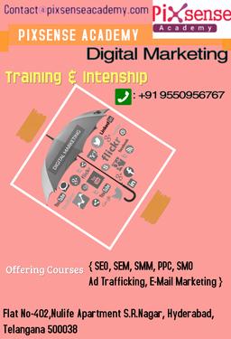 pixsense digital academy in hyderabad teaching course in sr nagar