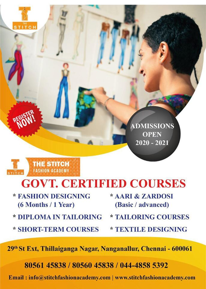 Fashion Designing Course Diploma In Fashion Designing Fashion Technology Course In Nanganallur Chennai Click In