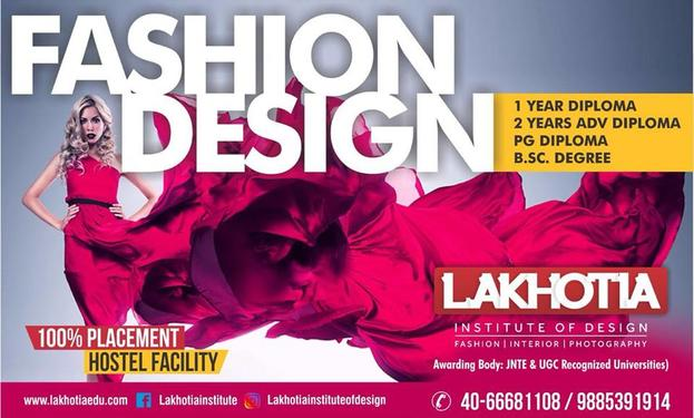 Fashion Designing Courses In Lakhotia Fashion Technology Course In Banjara Hills Hyderabad Secunderabad Click In