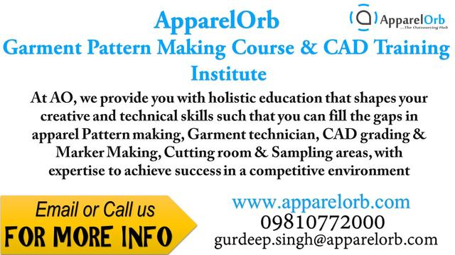 Apparel CAD Pattern Making Training In Kolkata - Fashion