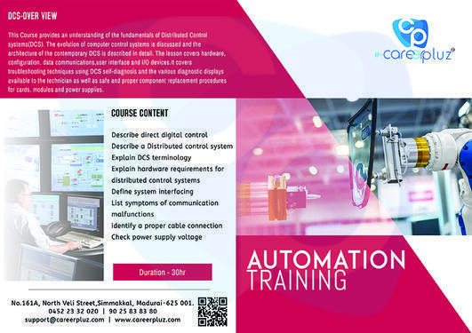 Industrial Automation Training - Teaching Course In Madurai Reserve