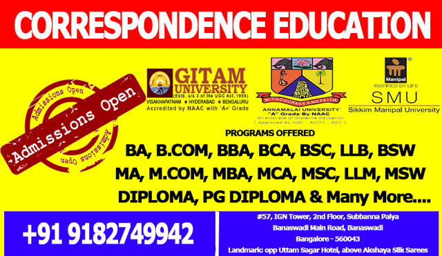 Correspondence Education In Bangalore - Professional Course In