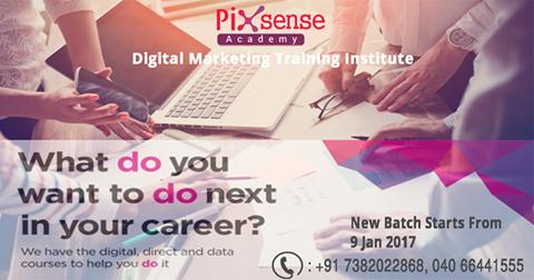 the professional digital marketing course pixsense career