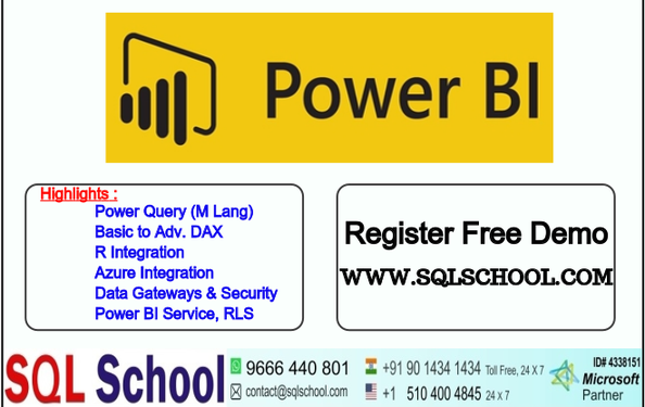 Power BI Best Online Training SQL School - Professional Course In