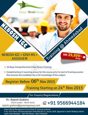 Nebosh Igc Course Training In Ahmedabad Teaching Course In Vashi