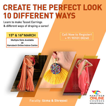 Learn 10 Ways Of Draping With Hamstech Online Fashion Technology Course In Alok Nagar Indore Click In