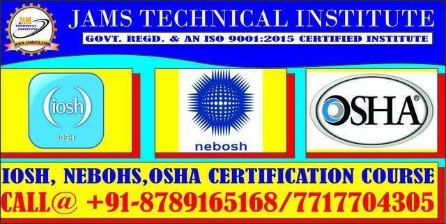 Nebosh Osha Iosh Certification Water Treatment Kanpur Aliga - Career ...
