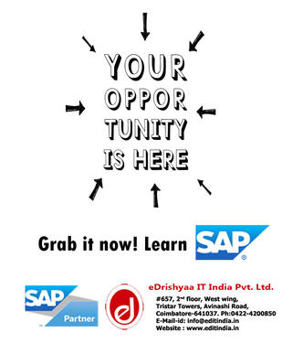 Authorized SAP Training EAcademy In Coimbatore