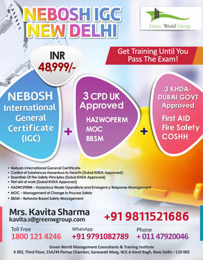 Nebosh Courses In Delhi Green World Group Professional Course In