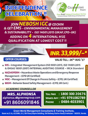 Grab The Great Independence Day Offer! Join NEBOSH IGC
