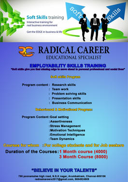 SOFT SKILLS TRAINING PROGRAM - Career Counseling Course In