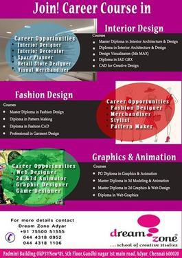Dreamzone Interior Design Fashiondesign Graphics Animation Interior Designing Course In Adyar Chennai Click In