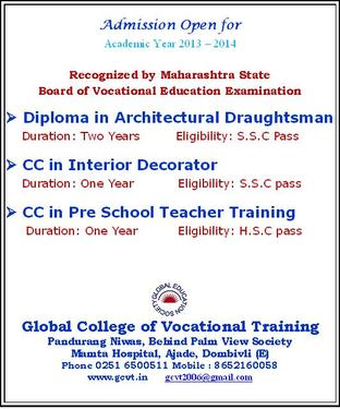 Global College Of Vocational Training Interior Designing Course In