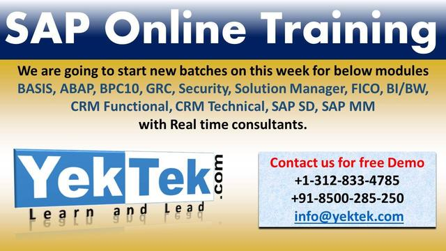 SAP FICO Online Training From Industry Expert - Professional