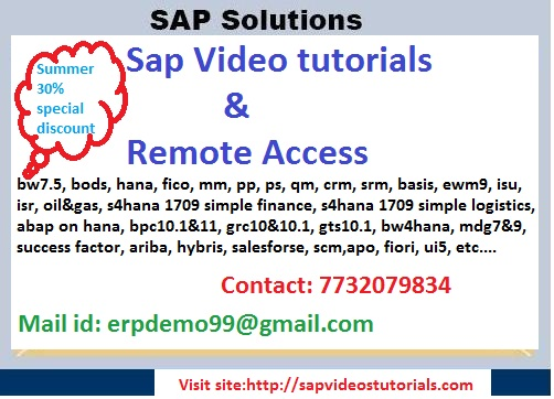 Sap S4hana 1709 Online Server Access - Professional Course In