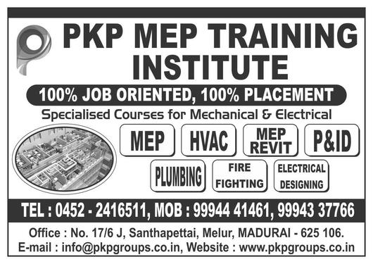 MEP Course For Mechanical And Electrical Engineers