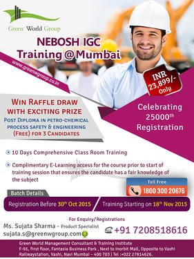 Nebosh Course In Mumbai At 23 899 Inr Only Teaching Course In