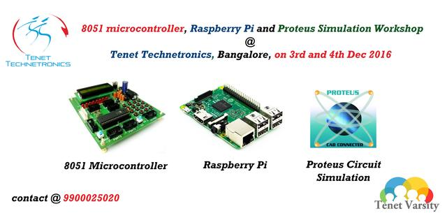 Raspberry Pi, 8051 And Proteus Circuit Simulation Workshops