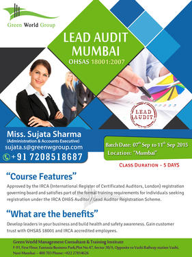 Lead Auditor Course In Mumbai Green World Group Professional