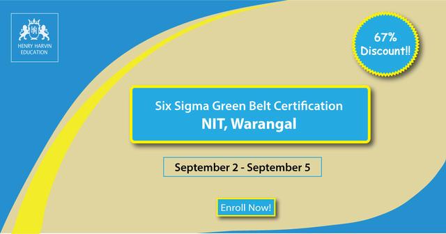 kpmg six sigma certification at nit warangal - professional course ...