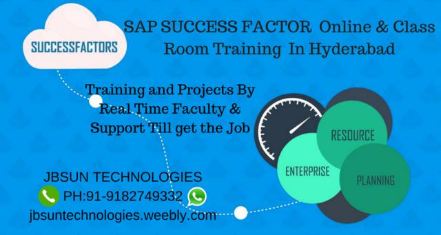 SAP Success Factor Online Class Room Training In Hyderabad