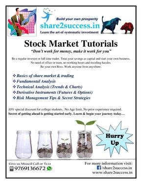Share2success Stock Market Training Classes - Banking And